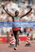 图文-奥运最后一日男子马拉松决赛 肯尼亚选手夺冠
