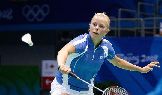 图文-羽毛球比赛开赛 冰岛选手因戈尔夫斯多蒂尔