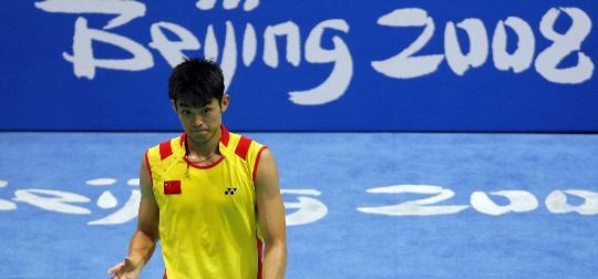 图文-羽毛球男单林丹顺利晋级 超级丹比赛中小憩
