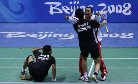 羽毛球男双印尼组合夺金