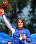 图文-小轮车女子竞速颁奖仪式 法国选手夺魁