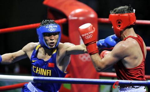 图文-拳击81公斤级中国收获金牌 狠狠一击