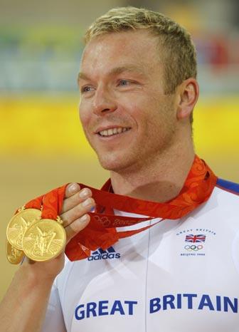 图文-[奥运]自行车男子争先赛 展示自己的收获