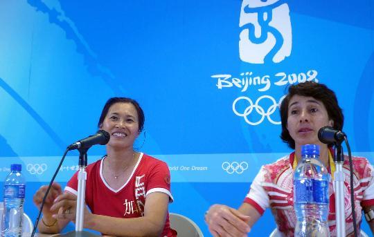 图文-击剑菊杰惜别北京奥运会 回到祖国很高兴