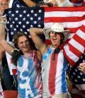 图文-女足决赛美国1-0巴西 激动的美国球迷