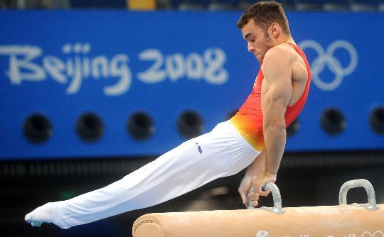 图文-体操各队亮相国家体育馆 西班牙运动员训练中