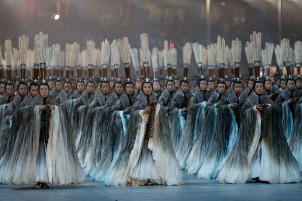 图文-2008北京奥运会开幕式 竹简表演