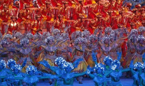 图文-2008北京奥运会闭幕式 闭幕式华美演出