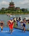 图文-女子组决赛在十三陵水库举行 各路好手上岸