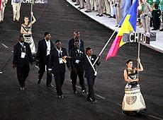 雅典奥运会开幕式 非洲乍得代表团入场