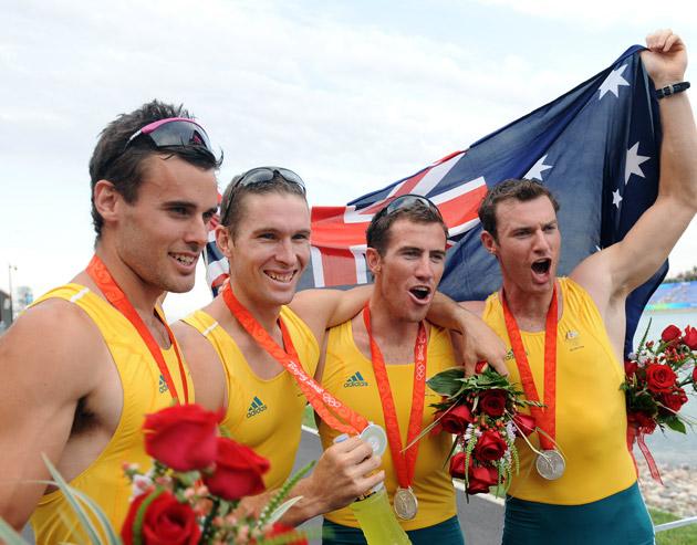 图文-[奥运]赛艇男子四人单桨 澳大利亚获得亚军