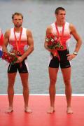 图文-[奥运]男子轻量级双人双桨 铜牌得主丹麦组合