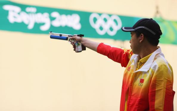 图文-08奥运会射击比赛集锦 稳定的庞伟
