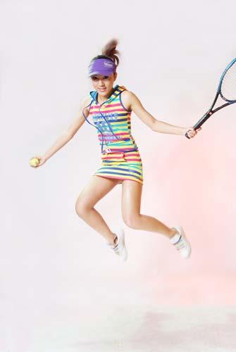 图文-清纯靓丽网球妹妹写真集 服装五颜六色