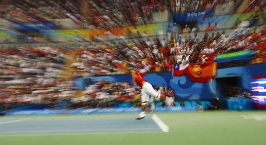 图文-奥运会网球比赛精彩瞬间回顾 视觉冲击力强