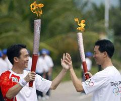 奥运火炬在万宁传递