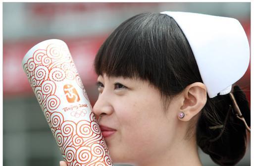 北京火炬手刘卉:白衣天使 要在感恩中度过每一天