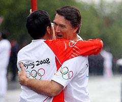 奥运圣火在西宁传递
