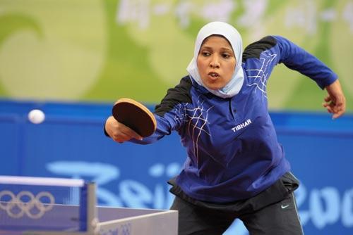 图文-奥运会乒乓球经典瞬间回顾 埃及女选手参赛