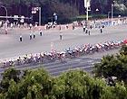 选手在长安街上骑行