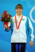图文-[奥运]女子举重75公斤 瓦热宁娜夺得银牌