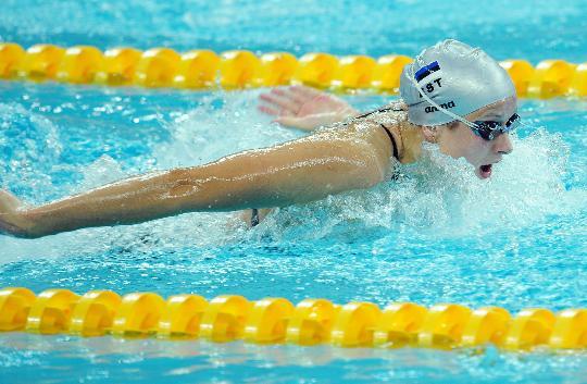 图文-9日女子100米蝶泳预赛赛况 阿利扬德竞速