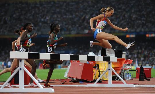 图文-女子3000米障碍俄罗斯选手夺金 冠军萨米托娃