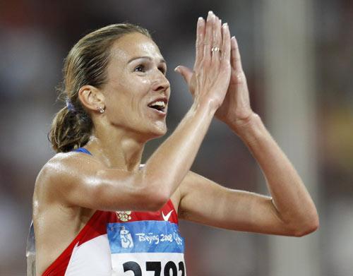 图文-女子3000米障碍赛 俄萨米托娃感谢所有支持