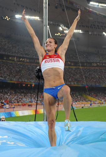 图文-田径女子撑杆跳高决赛 完成完美一跳