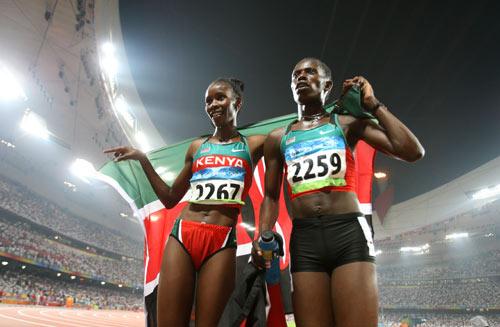 图文-田径女子800米决赛打响 肯尼亚包揽金银牌