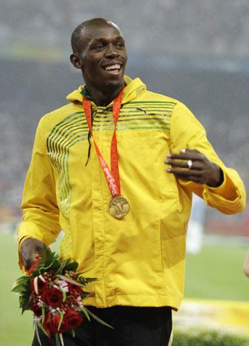 图文-[奥运]男子200m决赛 博尔特是最酷的冠军