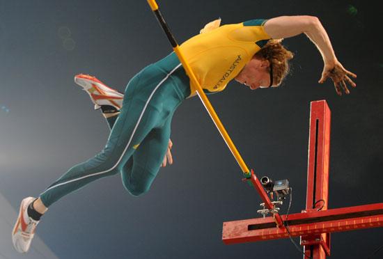 图文-男子撑杆跳高及格赛赛况 澳大利亚的胡克