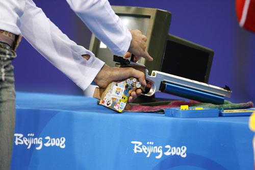 图文-奥运会女子现代五项赛况 一看就是私伙枪