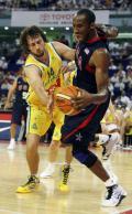 图文-美国男篮87-76击败了澳大利亚 全力突破澳洲虎