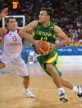 图文-男篮立陶宛战胜克罗地亚