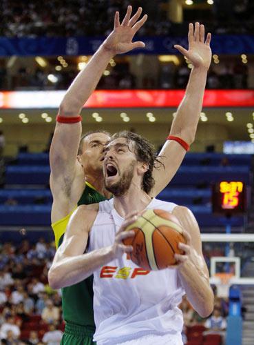 图文-西班牙男篮胜立陶宛进决赛 加索尔要爆发