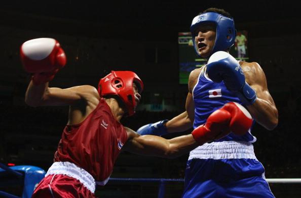图文-14日奥运会拳击比赛赛况 进攻是最好的防守