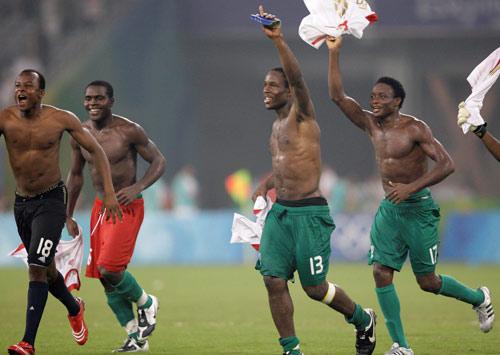 图文-男足比利时1-4尼日利亚 尼日利亚杀入决赛