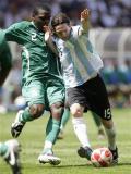 图文-男足尼日利亚VS阿根廷 奥科隆科沃与梅西