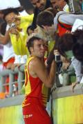 图文-男子曲棍球半决赛西班牙获胜 享受欢庆时刻