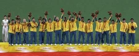 图文-澳大利亚男曲胜荷兰摘铜 澳大利亚队全体队员