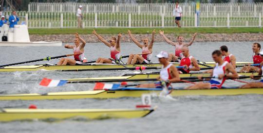图文-男子轻量级四人单桨决赛赛况 丹麦队夺冠