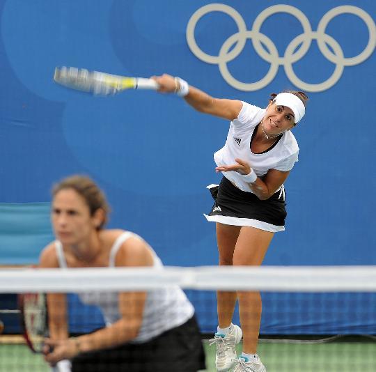 网球女双决赛赛况