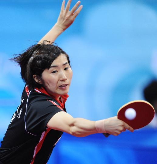 20日乒乓球女单赛况