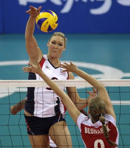 图文-奥运会17日女排小组赛赛况 身高臂长占优势