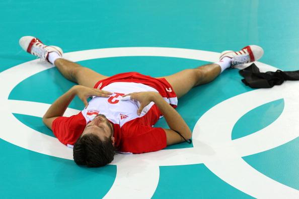 图文-奥运会男子排球1/4决赛赛况 十分的遗憾