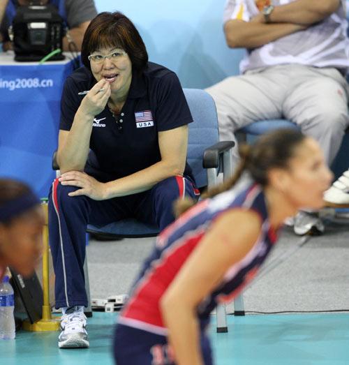 图文-女排决赛巴西胜美国夺金 朗平脑筋急转