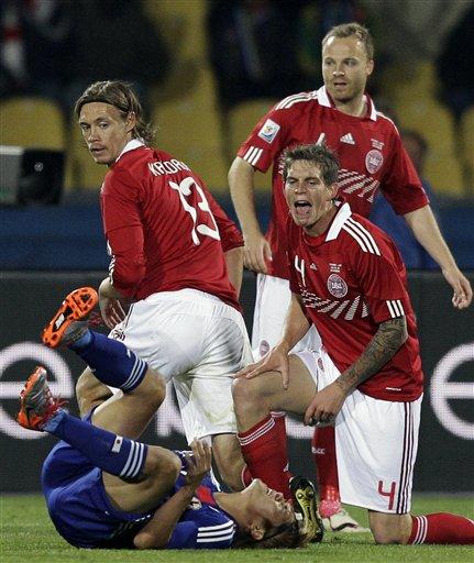图文-[小组赛]丹麦VS日本他绝对是装的