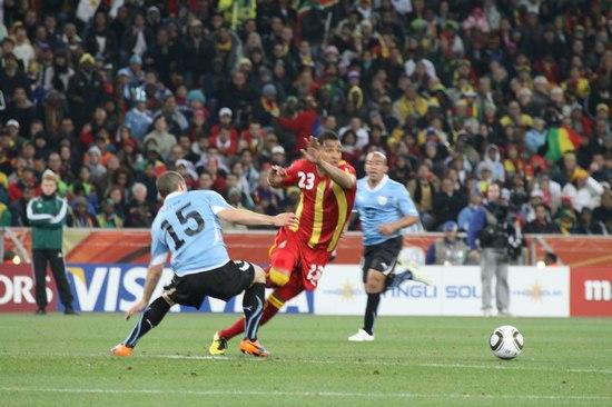 图文-[1/4决赛]乌拉圭5-3加纳加纳队大脑博阿滕