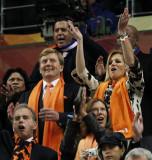 荷兰王子与王妃观战